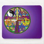 Unity Spiritual Symbols Mouse Pads