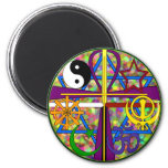 Unity Spiritual Symbols Refrigerator Magnet