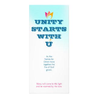 UNITY STARTS WITH U (orange to pink fire) & Logo Rack Card