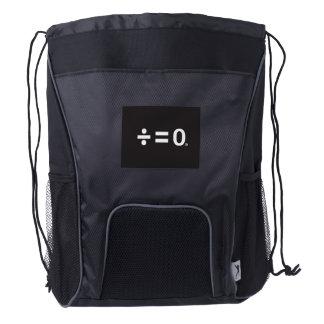 Unity Symbol Drawstring Backpack, Black Drawstring Backpack