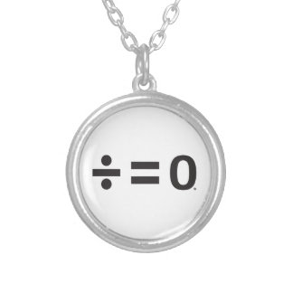 Unity Symbol Small Silver Plated Round Necklace