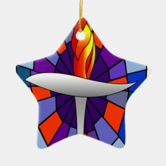 Unity Temple Chalice Products Double-Sided Star Ceramic Christmas Ornament