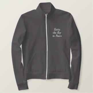 Unity the Key to Peace Fleece Jacket