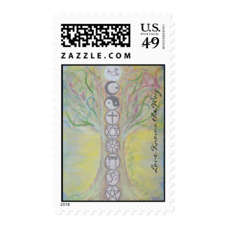 Unity Tree Postage Stamps - Love Knows the Way
