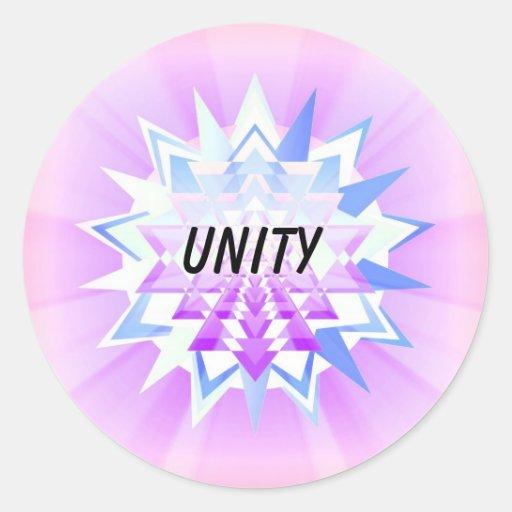 Unity (Virtue sticker) Classic Round Sticker