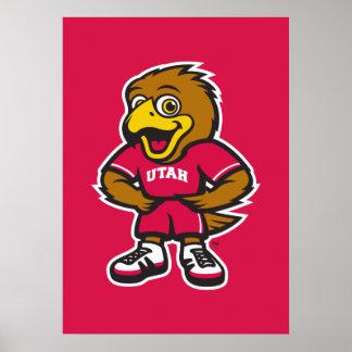 Univ del logotipo de la juventud de Utah Póster