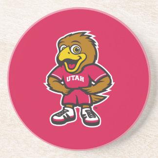 Univ of Utah Youth Logo Sandstone Coaster