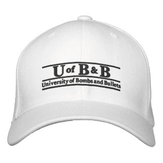 Univeristy of Bombs & Bullets Embroidered Baseball Hat