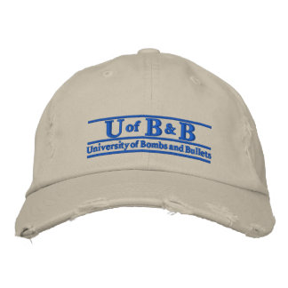 Univeristy of Bombs Bullets Embroidered Baseball Cap