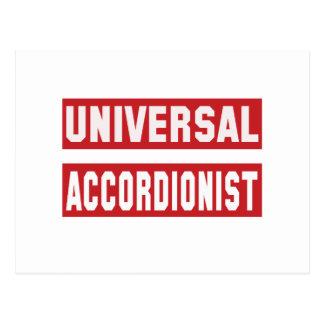 Universal Accordionist. Postcard