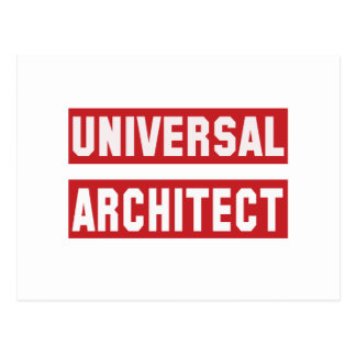 Universal Architect. Postcard