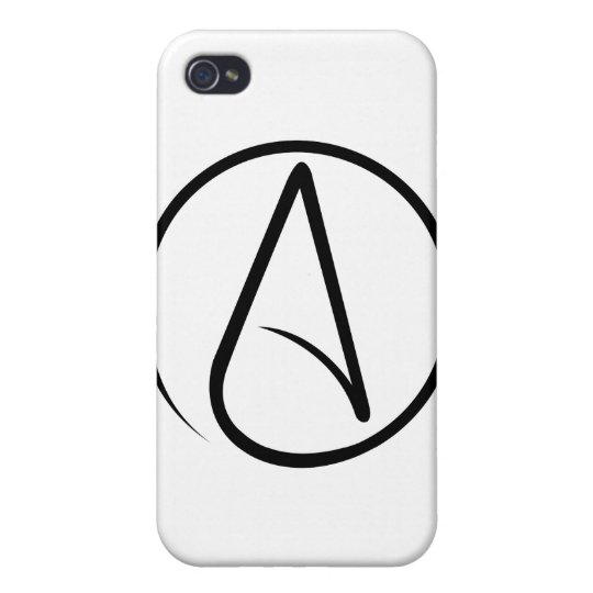 Universal Atheist Symbol iPhone 4/4S Cover