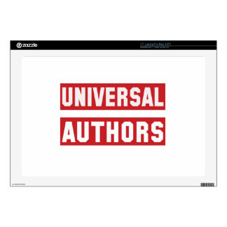"Universal Authors Decals For 17"" Laptops"