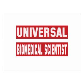 Universal Biomedical scientist. Postcard