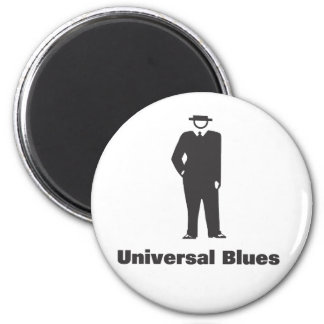Universal Blues 2 Inch Round Magnet