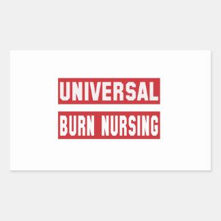 Universal Burn nursing. Rectangular Sticker