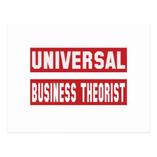 Universal Business theorist. Postcard