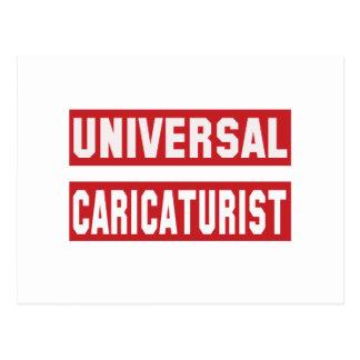 Universal Caricaturist. Postcard