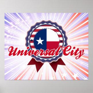 Universal City TX Print