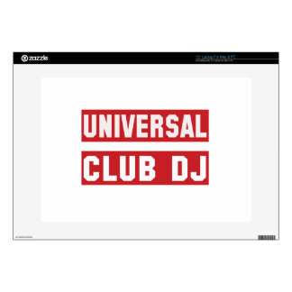 "Universal club DJ. Skin For 15"" Laptop"