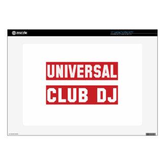 "Universal club DJ. Skin For 15"" Laptop"