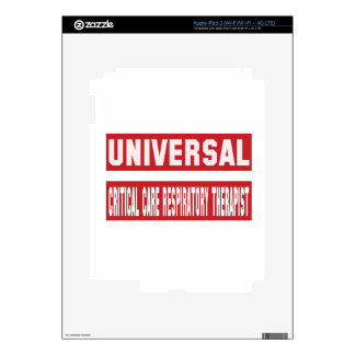 Universal Critical Care Respiratory Therapist. iPad 3 Decals