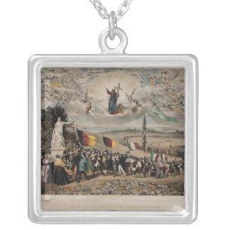 Universal Democratic and Social Republic, 1848 Silver Plated Necklace