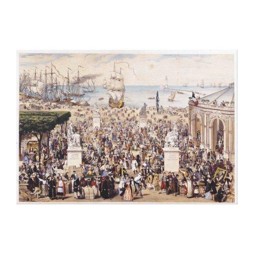 Universal Democratic & Social Republic Stretched Canvas Prints