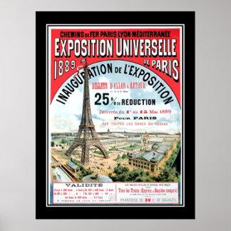 Universal Exposition Paris 1889 Vintage Poster