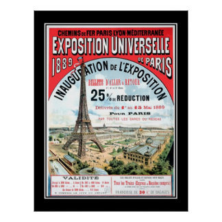 Universal Exposition Paris 1889 Vintage Poster Poster