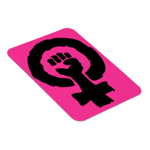 Universal Female symbol Solidarity hand Hot Pink Magnet