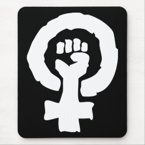 Universal Female symbol Solidarity hand Mouse Pad