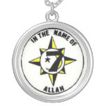 universal flag round pendant necklace