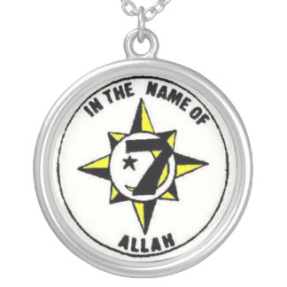 universal flag silver plated necklace