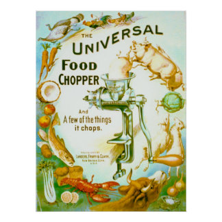 Universal Food Chopper 1897 Poster