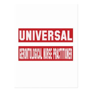 Universal Gerontological Nurse Practitioner. Postcard