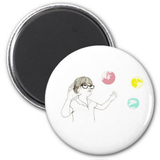 Universal Girl 副本 2 Inch Round Magnet