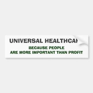 Universal HealthCare Car Bumper Sticker