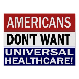 Universal Healthcare poster print