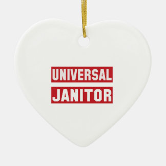 Universal janitor ceramic ornament