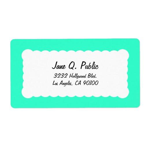 Universal Label Turquoise