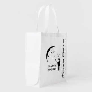 Universal Language Personalized Shopping Bag Reusable Grocery Bags