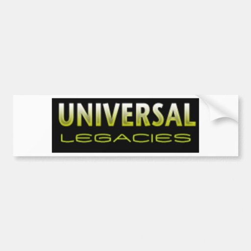 Universal Legacies Team Wear Car Bumper Sticker