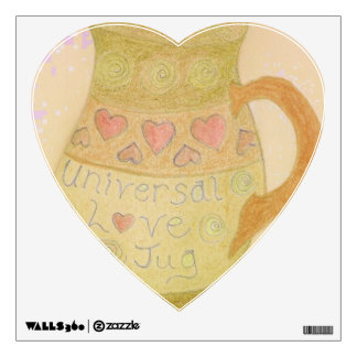 Universal Love Jug fun art decal heart shaped
