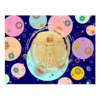 Universal Man (Vitruvian Man) Postcard