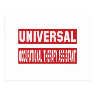 Universal Occupational Therapy Assistant. Postcard