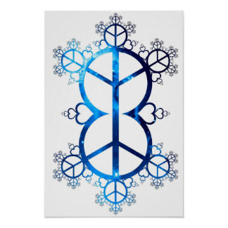Universal Peace & Love Fractal Poster