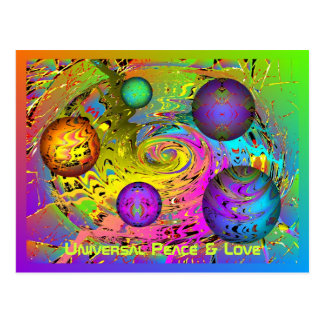 Universal Peace & Love Holiday Greetings Postcard