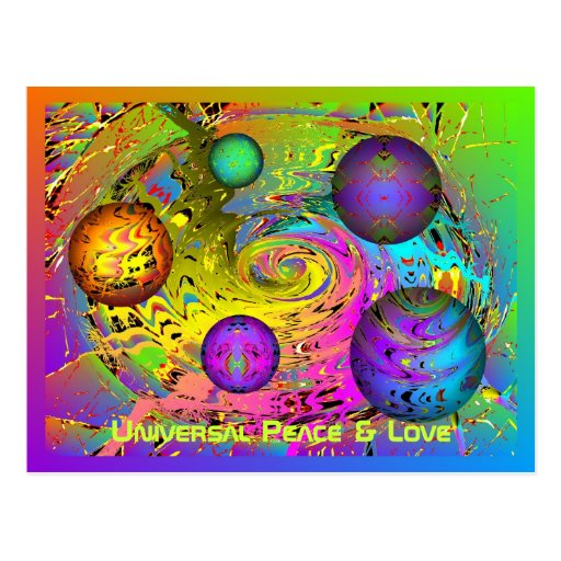Universal Peace & Love Holiday Greetings Post Cards