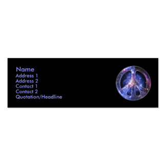 Universal Peace Profile Card Business Card Templates